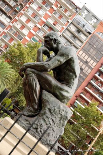 Le Penseur d'Auguste Rodin, plaza del Congreso, Buenos Aires, Argentine