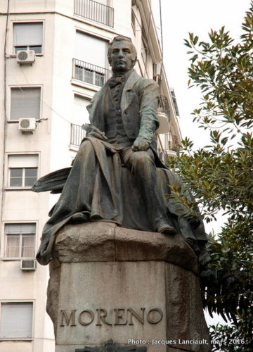 Monument Mariano Moreno, plaza Moreno, Buenos Aires, Argentine