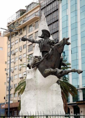 Don Quijote de la Mancha, Avenida9 de julio, Buenos Aires, Argentine