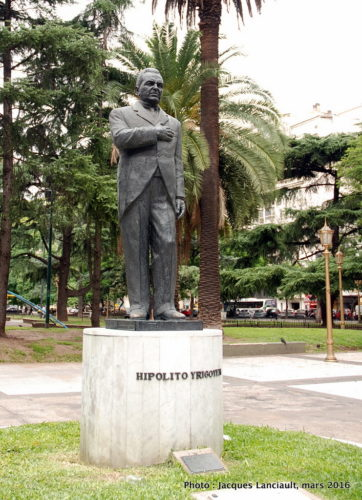 Monument Hipólito Yrigoyen, Plaza Lavalle, Buenos Aires, Argentine