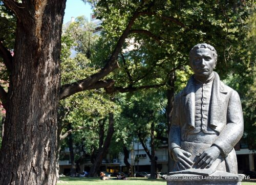Louis Braille, plaza Francia, Buenos Aires, Argentine