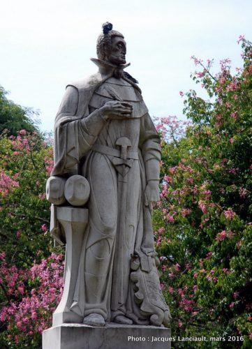 Monument Inca Garcilaso de la Vega, quartier Palermo, Buenos Aires, Argentine