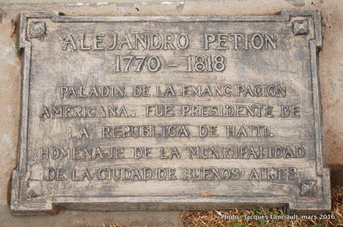 Alejandro Petion, quartier Palermo, Buenos Aires, Argentine