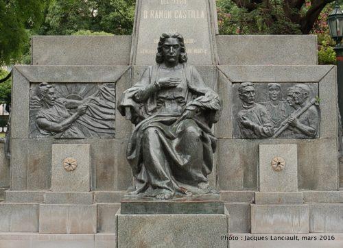 Ramón Castilla, plaza República de Chile, quartier Palermo, Buenos Aires, Argentine