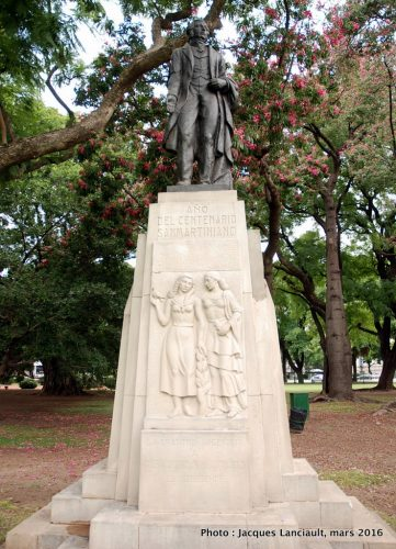 Centenaire de l'Instituto Nacional Sanmartiniano, plaza República de Chile, quartier Palermo, Buenos Aires, Argentine