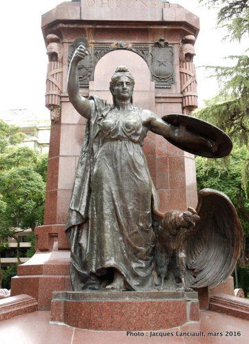 Général O'Higgins, plaza República de Chile, quartier Palermo, Buenos Aires, Argentine