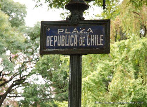 Plaza República de Chile, quartier Palermo, Buenos Aires, Argentine