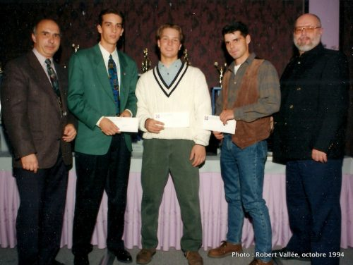 Louis-Philippe Grenier, Kevin Wheaton, André Galarneau, et Bruno Chartrand