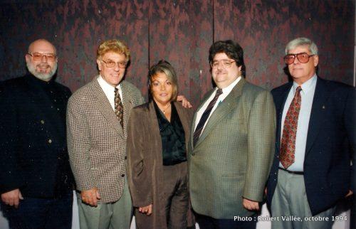Bill Slack, Francyne Lauzon, Robert Isabelle et Claude Pelletier
