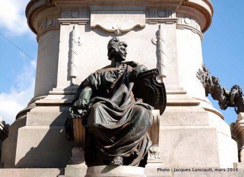 Monument Giuseppe Garibaldi, plaza Italia, Parlermo, Buenos Aires, Argentine