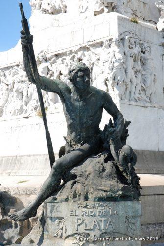 Monumento a la Carta Magna y las Cuatro Regiones Argentinas, Parlermo, Buenos Aires, Argentine