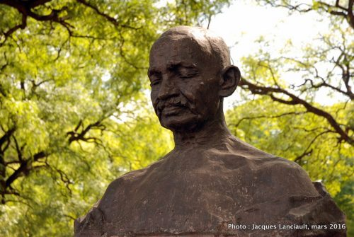Mahatma Gandhi, plaza Sicilia, Parlermo, Buenos Aires, Argentine
