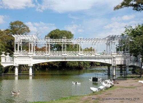 Puente Blanco, El Rosedal, Parlermo, Buenos Aires, Argentine