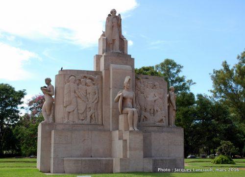 Monument à Nicolás Avellaneda, parque tres de Febrero, Parlermo, Buenos Aires, Argentine