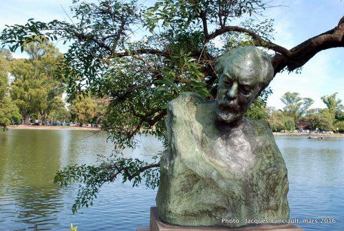 Pabellón con escultura, El Rosedal, Parlermo, Buenos Aires, Argentine