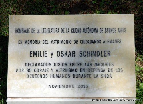 Monumento Nacional a la Memoria de las Víctimas del Holocausto, Parlermo, Buenos Aires, Argentine