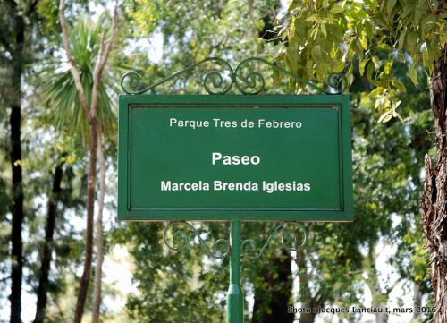 Paseo Marcela Brenda Iglesias, Parlermo, Buenos Aires, Argentine