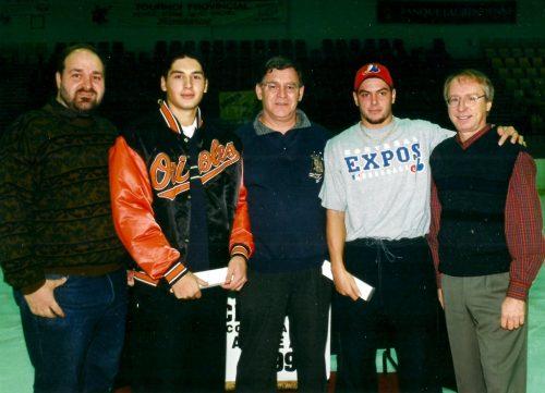 François Tourigny, Martin Bérubé, Ronald Saulnier, Éric Charron et Jacques Lanciault