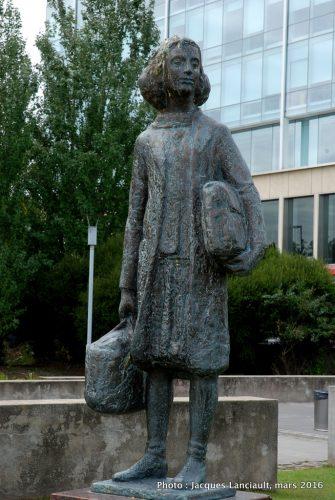 Anne Frank, Plaza Reina de Holanda, Puerto Madero, Buenos Aires, Argentine