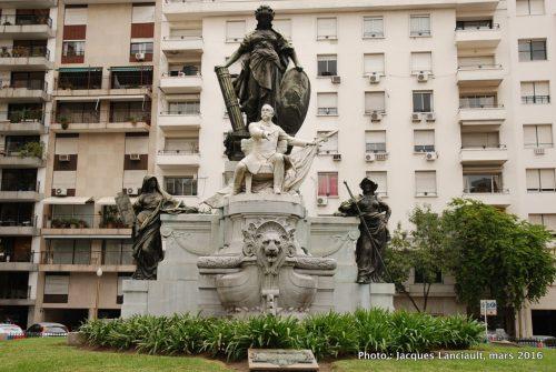 Monument Docteur Carlos Pellegrini, quartier Retiro, Buenos Aires, Argentine