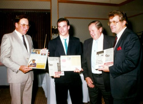 Monsieur Mazzocca, Pascal Raymond, Claude Guénette et Laurent Boulanger