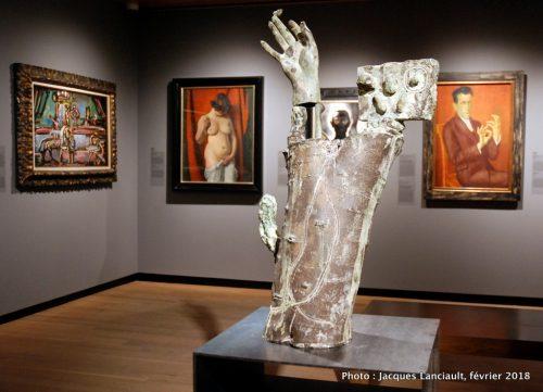 L'oiseau se niche sur les doigts en fleur, Musée des beaux-arts de Montréal