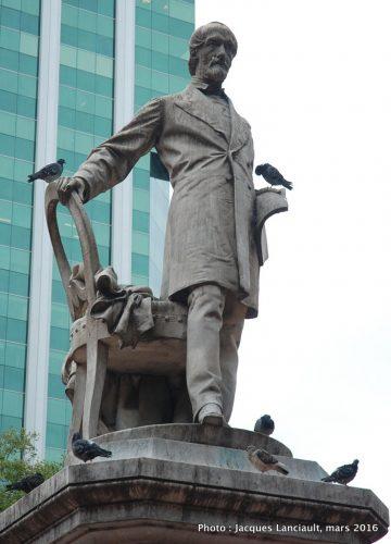 Monument à Giuseppe Mazzini, plaza Roma, Buenos Aires, Argentine