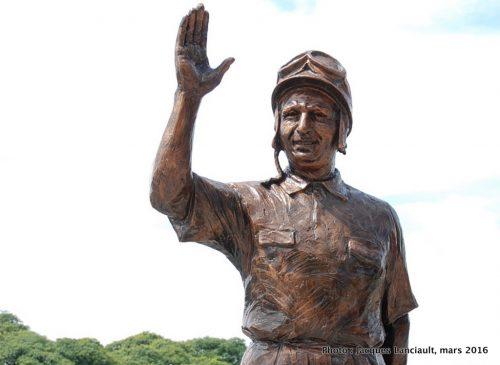 Juan Manuel Fangio, paseo de la Gloria, quartier Puerto Madero, Buenos Aires, Argentine