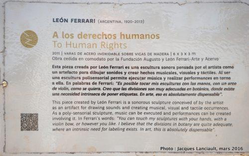 Parque de la Memoria, Buenos Aires, Argentine
