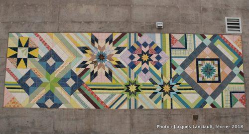 Tissu urbain, gare de train Saint-Michel, Montréal, Québec