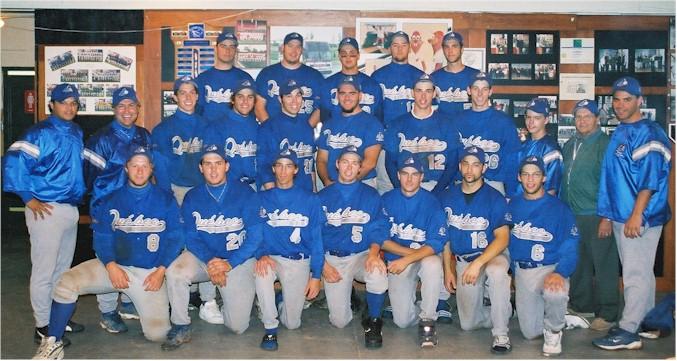 L'équipe du Québec, médaillée d.or au championnat canadien de baseball junior 2004