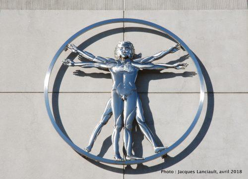 L'Homme de Vitruve, Centre Leonardo da Vinci, Saint-Léonard, Montréal, Québec