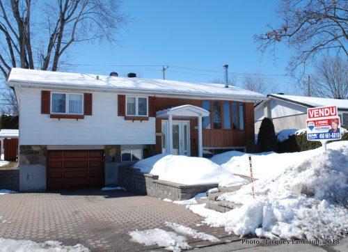 Mars 2018, notre maison du 2640 Tadoussac à Laval est vendue
