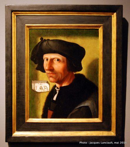 Autoportrait de Jacob Cornelisz van Oostsanen, Rijksmuseum, Amsterdam, Pays-Bas