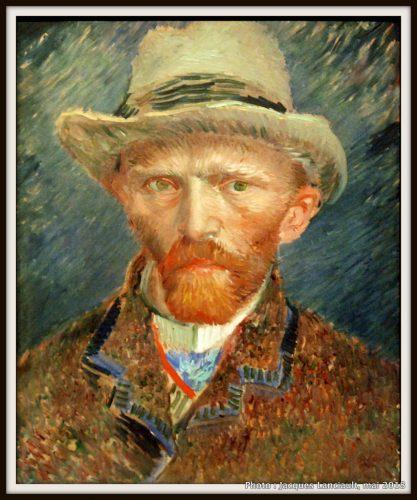 Autoportrait de Vincent Van Gogh, Rijksmuseum, Amsterdam, Pays-Bas
