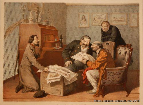 L'imprimeur offrant des œuvres érotiques, Rijksmuseum, Amsterdam, Pays-Bas