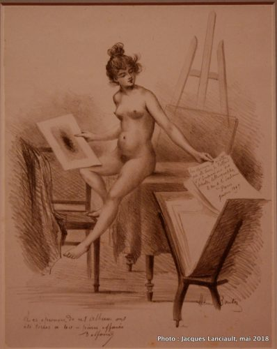 Un modèle admirant son image, Rijksmuseum, Amsterdam, Pays-Bas