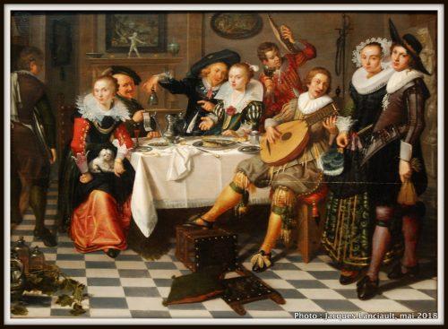 Joyeuse compagnie, Rijksmuseum, Amsterdam, Pays-Bas