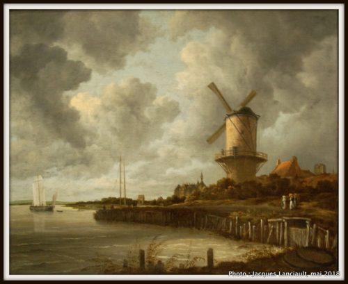 Le moulin à vent de Wijk, Rijksmuseum, Amsterdam, Pays-Bas