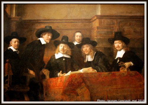 Le syndic de la guilde des drapiers, Rijksmuseum, Amsterdam, Pays-Bas