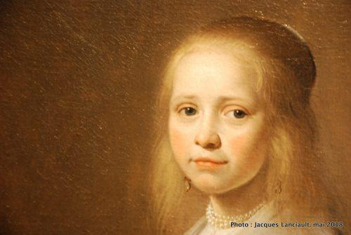 Portrait d'une jeune fille habillée en bleu, Rijksmuseum, Amsterdam, Pays-Bas