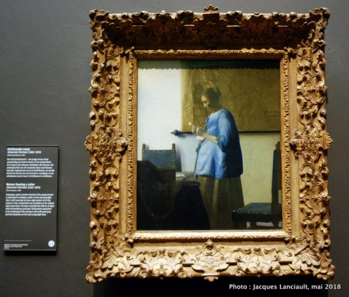 La Femme en bleu lisant une lettre, Rijksmuseum, Amsterdam, Pays-Bas
