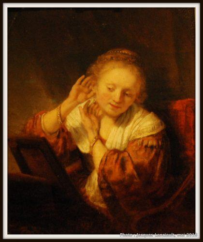 Jeune femme aux boucles d'oreilles, Hermitage Amsterdam, Amsterdam, Pays-Bas