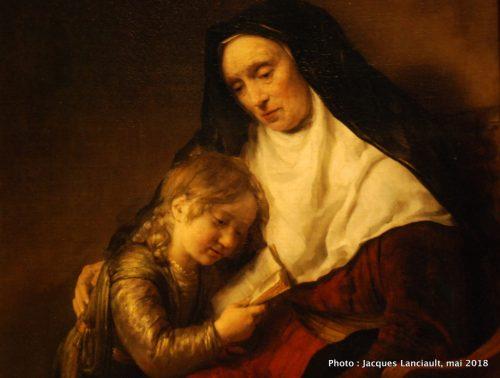 Anne, la prophétesse, enseignant à une enfant, Hermitage Amsterdam, Amsterdam, Pays-Bas