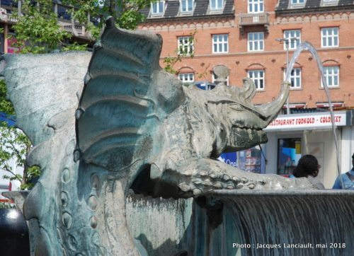 Fontaine aux dragons, Rådhuspladsen, Copenhague, Danemark