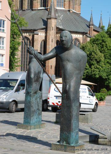 Möwenbrunnen, Neuer Markt, Rostock, Allemagne