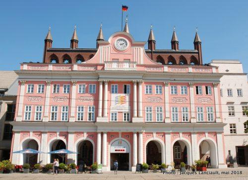 Rathaus, Neuer Markt, Rostock, Allemagne