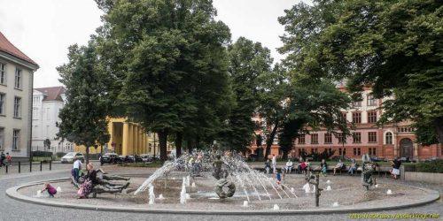 Brunnen der Lebensfreude, Kröpeliner Straße, Rostock, Allemagne