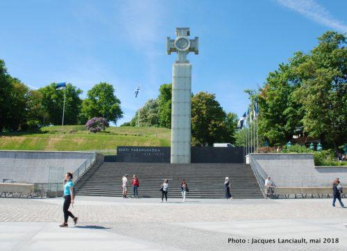 Colonne de la victoire de la guerre d'indépendance, Place de la Liberté, Tallinn, Estonie