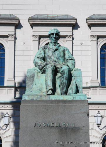 Johan Vilhelm Snellman, Helsinki, Finlande